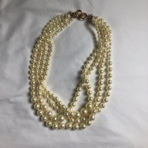 J Crew Layered Pearl Statement Necklace